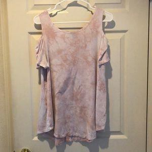 Light Pink Tie Dye Shirt